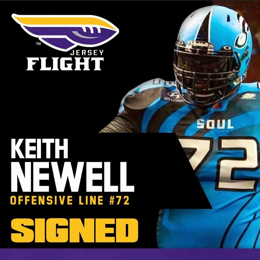 Trenton Native Keith Newell signs with Jersey Flight