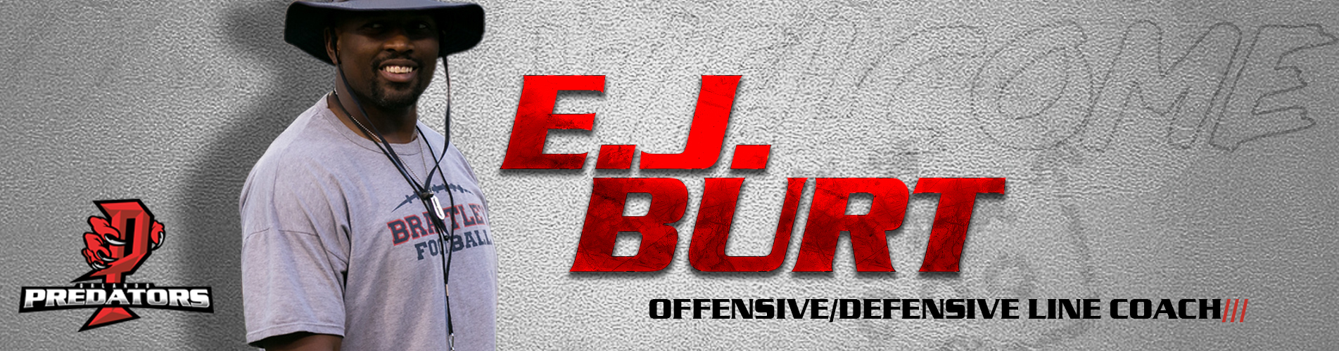 E.J. Burt Offense/Defensive Line Coach, Linebackers/Fullbacks Coach for Orlando Predators