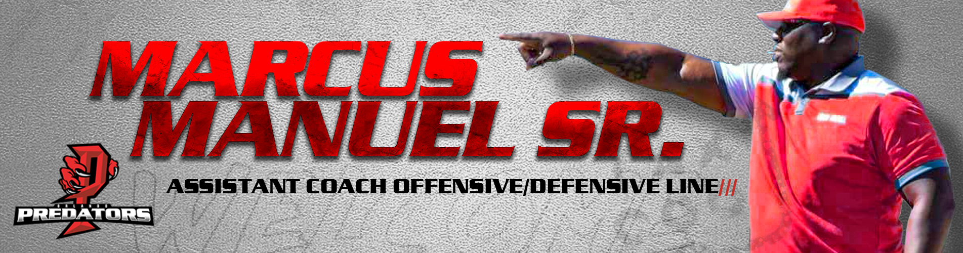 Marcus Manuel Sr. Assistant Coach Offensive/Defensive Line for Orlando Predators