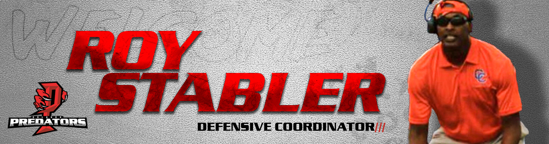 Roy Stabler Defensive Coordinator for Orlando Predators