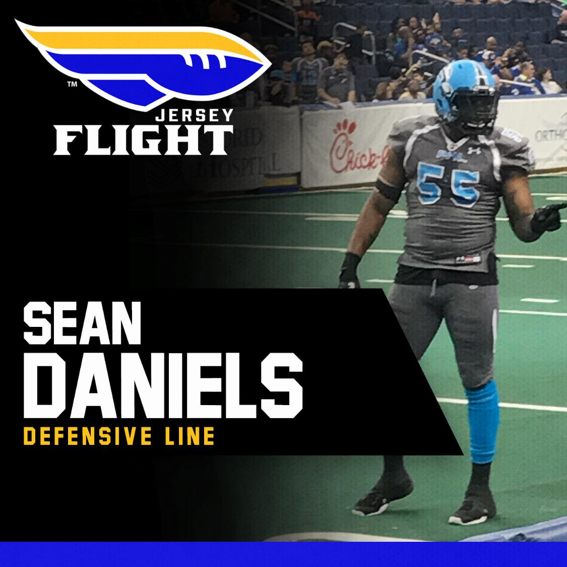 Former Temple University DL Sean Daniels signs with Jersey Flight